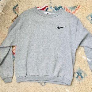 Vintage XL Boys Nike Gray Crewneck Pullover